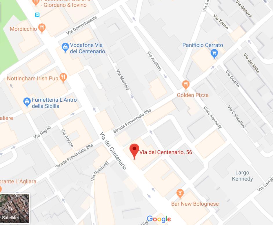 Mappa centro analisi cliniche battipaglia Orlotti